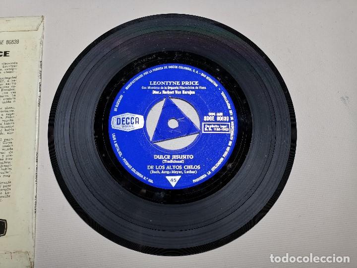 Discos de vinilo: LEONTYNE PRICE - NAVIDAD CON - KARAJAN - EP DECCA 1963 - Foto 8 - 197759357