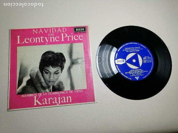 LEONTYNE PRICE - NAVIDAD CON - KARAJAN - EP DECCA 1963 (Música - Discos de Vinilo - EPs - Clásica, Ópera, Zarzuela y Marchas)
