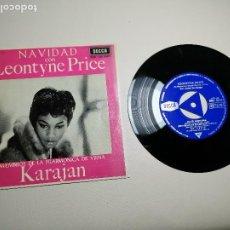 Discos de vinilo: LEONTYNE PRICE - NAVIDAD CON - KARAJAN - EP DECCA 1963 . Lote 197759357