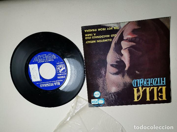 Discos de vinilo: Ella Fitzgerald – Ellington Medley / Old Macdonald Ha A Farm / The Boy From Ipanema - EP 1966 - Foto 2 - 197760421