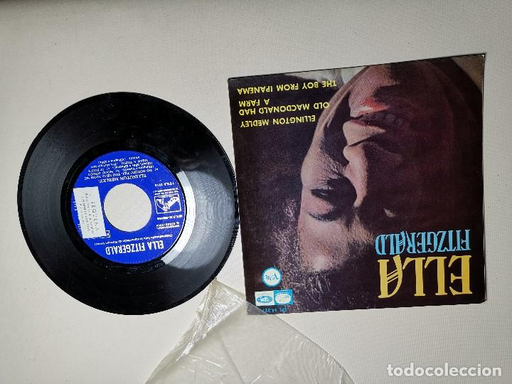 Discos de vinilo: Ella Fitzgerald – Ellington Medley / Old Macdonald Ha A Farm / The Boy From Ipanema - EP 1966 - Foto 3 - 197760421