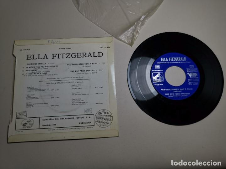 Discos de vinilo: Ella Fitzgerald – Ellington Medley / Old Macdonald Ha A Farm / The Boy From Ipanema - EP 1966 - Foto 8 - 197760421