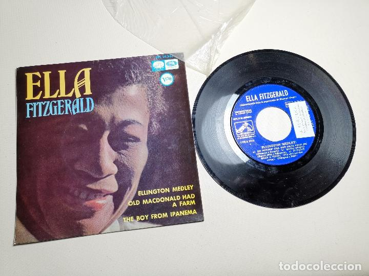 ELLA FITZGERALD – ELLINGTON MEDLEY / OLD MACDONALD HA A FARM / THE BOY FROM IPANEMA - EP 1966 (Música - Discos de Vinilo - EPs - Jazz, Jazz-Rock, Blues y R&B)