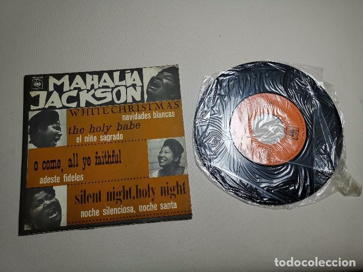 MAHALIA JACKSON - WHITE CHRISTMAS + 3 - EP 5925 CBS 1966 (Música - Discos de Vinilo - EPs - Jazz, Jazz-Rock, Blues y R&B)