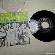 Discos de vinilo: - THE PLATTERS - ONLY YOU / MI PRAYER - 127.351 MCF AÑO1968 - IMPECABLE. Lote 197765235