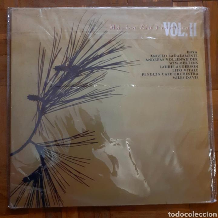 MÚSICA SIN FRONTERAS VOL.II. 2 LP. GATEFOLD. GASA DE 6C 0455. 1991. (Música - Discos - LP Vinilo - Pop - Rock Extranjero de los 90 a la actualidad)