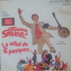 Discos de vinil: TOMMY STEELE BANDA SONORA DE LA PELÍCULA LA MITAD DE 6 PENIQUES EP SELLO RCA VÍCTOR EDITADO EN ESPAÑ. Lote 197781645