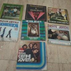 Discos de vinilo: GENTE JOVEN - LOTE DE SUS SIETE SINGLES EDITADOS-. Lote 197820416