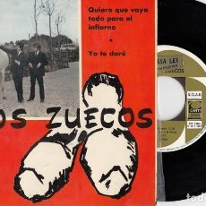 Discos de vinilo: LOS ZUECOS - QUIERO QUE VAYA TODO A INFIERNO - EP DE VINILO #. Lote 197824082