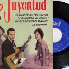 Discos de vinilo: TRIO JUVENTUD - MI CARIÑO EN TUS MANOS - EP DE VINILO - EL HOMBRE ES EL PADRE DE ALEJANDRO SANZ #. Lote 197824233