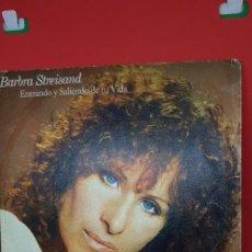 Discos de vinilo: BARBRA STREISAND 'ENTRANDO Y SALIENDO DE TU VIDA' SINGLE 1976. Lote 197828693