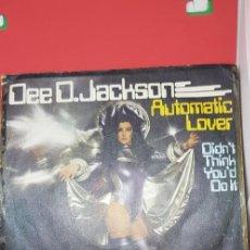 Discos de vinilo: DEE D. JACKSON 'AUTOMATIC LOVER' 1978 SINGLE. Lote 197830406