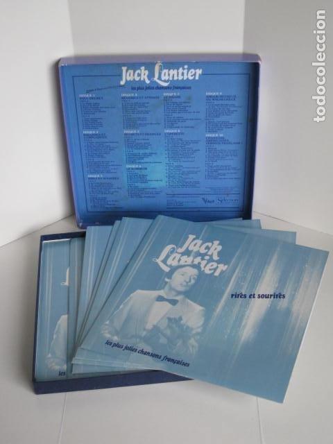 Discos de vinilo: LP JACK LANTIER. LES PLUS JOLIES CHANSONS FRANçAISES. 10 DISQUES. 1982. VOGUE P.I.P. - Foto 7 - 197855537