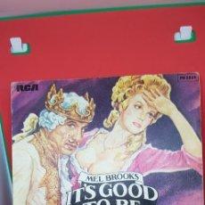 Discos de vinilo: MEL BROOKS 'IT'S GOOD TO BE THE ING RAP? PART 1&2 SINGLE 1982. Lote 197862731