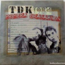 Discos de vinilo: TDK... 1984 PRIMERA GRABACIÓN.(RADIKAL 1977 RECORDS  2005) SPAIN. Lote 197863933