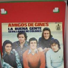 Discos de vinilo: AMIGOS DE GINER. LOTE 4 SINGLES . Lote 197865112