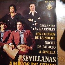 Discos de vinilo: AMIGOS DE GINER. LOTE 4 SINGLES (VER LAS FOTOGRAFÍAS). Lote 197865112