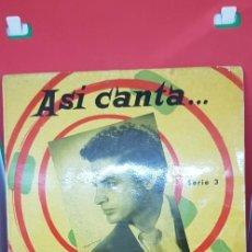 Discos de vinilo: ANTONIO MOLINA ASÍ CANTA... SERIE 3 'ADIÓS A ESPAÑA' SINGLE 1962. Lote 197866931