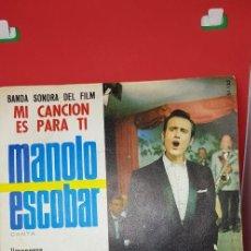Discos de vinilo: LOTE 11 VINILOS EP'S Y SINGLES MANOLO ESCOBAR (VER FOTOGRAFÍAS). Lote 197869505