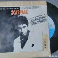 Discos de vinilo: SINGLE PELÍCULA SCARFACE, EL PRECIO DEL PODER CON AL PACINO.PROMOCIONAL RADIO. Lote 197896966