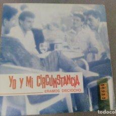 Discos de vinilo: SINGLE DEL GRUPO YO Y MI CIRCUNSTANCIA DE 1.990.PROMOCIONAL RADIO. Lote 197897572