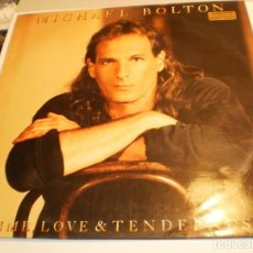 Discos de vinilo: LP MICHAEL BOLTON. TIME LOVE & TENDERNESS. CBS 1991 SPAIN (PROBADO Y BIEN, BUEN ESTADO). Lote 197915562