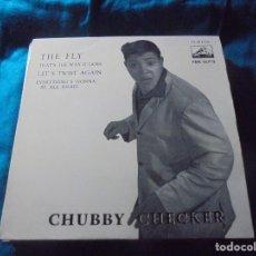 Discos de vinilo: CHUBBY CHECKER. THE FLY + 3. EP. LA VOZ DE SU AMO, 1962. . Lote 197949257