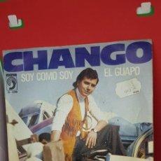 Discos de vinilo: CHANGO 'SOY COMO SOY' 'EL GUAPO' 1974. Lote 197957761