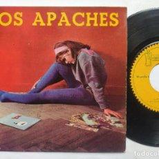 Disques de vinyle: LOS APACHES - EP SPAIN PS - APACHE / KATINA / IMPROVISACIÓN EN ROCK * GRUPO CANARIO 1962. Lote 197976791