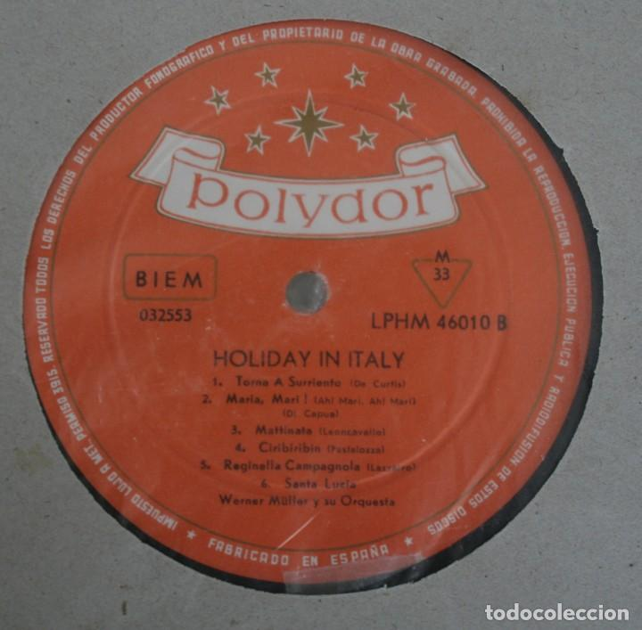 Discos de vinilo: DISCO VINILO LP ALBUM POLYDOR: HOLIDAY IN ITALY VER TITULOS DE LOS TEMAS EN FOTOGRAFIAS - Foto 2 - 197978727