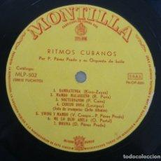 Discos de vinilo: DISCO VINILO LP ALBUM MONTILLA: RITMOS CUBANOS PEREZ PRADO Y SU ORQUESTA DE BAILE VER TITULOS TEMAS. Lote 197979000