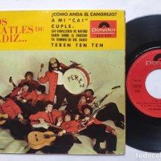 Discos de vinilo: LOS BEATLES DE CADIZ - EP SPAIN PS - ¿COMO ANDA EL GRANJERO?. Lote 197980078