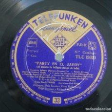 Discos de vinilo: DISCO VINILO LP ALBUM TELEFUNKEN: PARTY EN EL SABOY MUSICA DE BAILE VER TITULOS DE LOS TEMAS EN FOTO. Lote 197982852