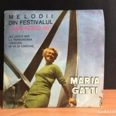 """Discos de vinilo: MARIA GATTI - MELODII DIN FESTIVALUL """"SAN-REMO 68"""" (MONO) (ELECTRECORD) (D:NM). Lote 197990848"""