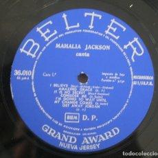 Discos de vinilo: DISCO VINILO LP ALBUM BELTER: MAHALIA JACKSON VER TITULOS DE LOS TEMAS EN FOTOGRAFIAS. Lote 198013291