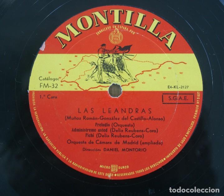 DISCO VINILO LP ALBUM MONTILLA: LAS LEANDRAS VER TITULOS DE LOS TEMAS EN FOTOGRAFIAS (Música - Discos de Vinilo - Maxi Singles - Otros estilos)