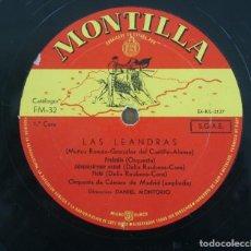 Discos de vinilo: DISCO VINILO LP ALBUM MONTILLA: LAS LEANDRAS VER TITULOS DE LOS TEMAS EN FOTOGRAFIAS. Lote 198014047
