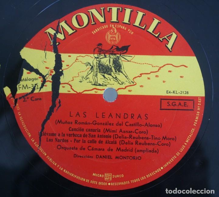 Discos de vinilo: DISCO VINILO LP ALBUM MONTILLA: LAS LEANDRAS VER TITULOS DE LOS TEMAS EN FOTOGRAFIAS - Foto 2 - 198014047