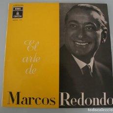 Discos de vinilo: DISCO VINILO LP ALBUM ODEON: EL ARTE DE MARCOS REDONDO VER TITULOS DE LOS TEMAS EN FOTOGRAFIAS. Lote 198014563