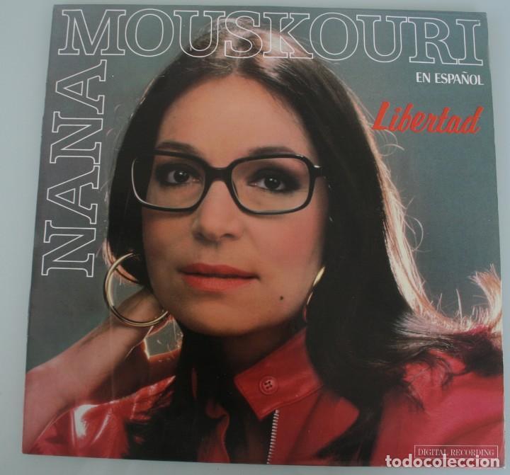 DISCO VINILO LP ALBUM NANA MOUSKOURI EN ESPAÑOL LIBERTAD VER TITULOS DE LOS TEMAS EN FOTOGRAFIAS (Música - Discos de Vinilo - Maxi Singles - Otros estilos)