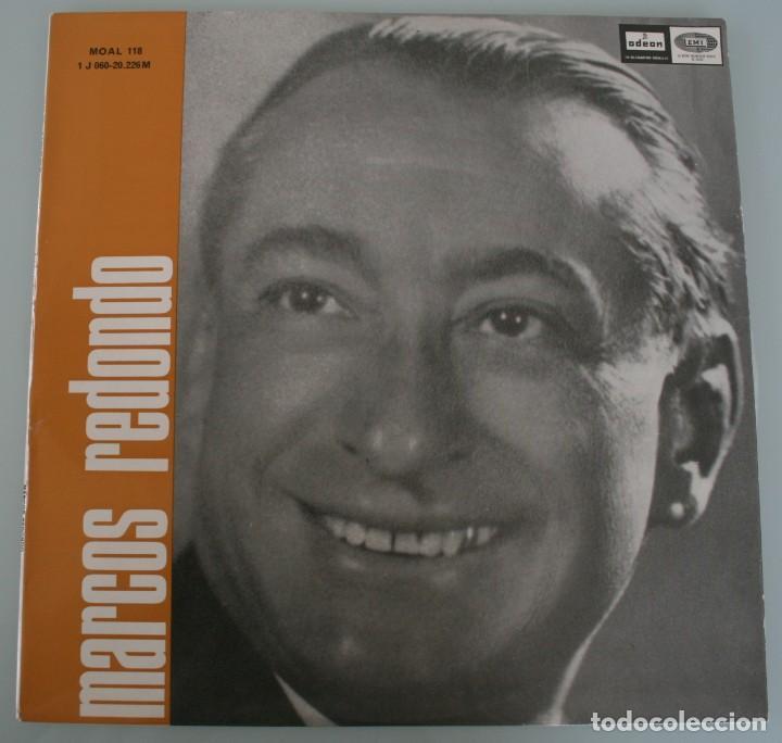 DISCO VINILO LP ALBUM ODEON: MARCOS REDONDO ANTOLOGIA DE LA ZARZUELA VER TITULOS DE LOS TEMAS (Música - Discos de Vinilo - Maxi Singles - Clásica, Ópera, Zarzuela y Marchas)