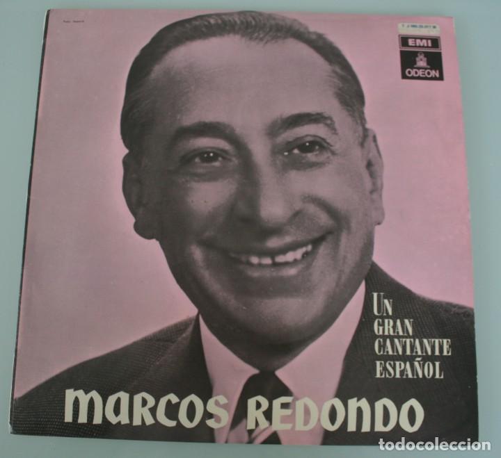 DISCO VINILO LP ALBUM ODEON: MARCOS REDONDO UN GRAN CANTANTE ESPAÑOL VER TITULOS DE LOS TEMAS (Música - Discos de Vinilo - Maxi Singles - Clásica, Ópera, Zarzuela y Marchas)