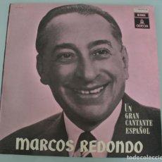 Discos de vinilo: DISCO VINILO LP ALBUM ODEON: MARCOS REDONDO UN GRAN CANTANTE ESPAÑOL VER TITULOS DE LOS TEMAS . Lote 198015498