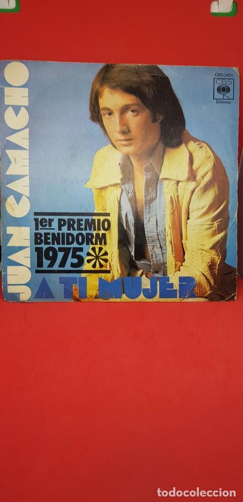 JUAN CAMACHO 'A TI MUJER' 1ER PREMMIO BENIDORM 1975 SINGLE (Música - Discos - Singles Vinilo - Otros Festivales de la Canción)