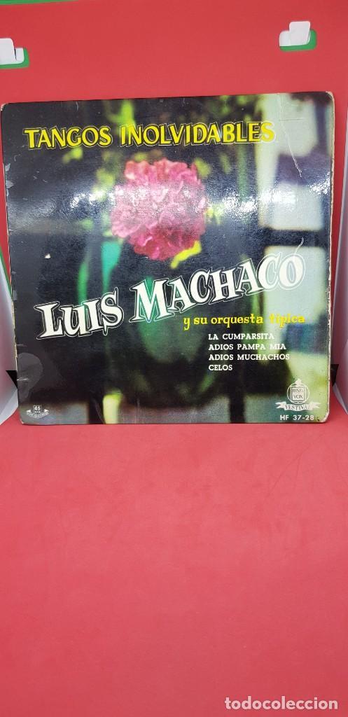 LUIS MACHACO Y SU ORQUESTA TÍPICA 'TANGOS INOLVIDABLES' EP 1960 (Música - Discos de Vinilo - EPs - Orquestas)