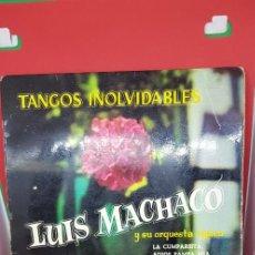 Discos de vinilo: LUIS MACHACO Y SU ORQUESTA TÍPICA 'TANGOS INOLVIDABLES' EP 1960. Lote 198019652
