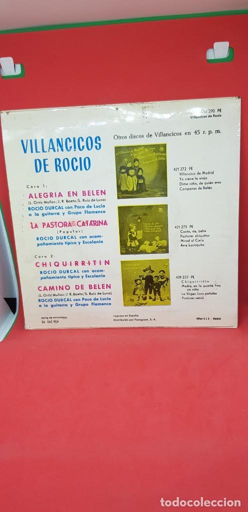 Discos de vinilo: ROCÍO DÚRCAL EP VILLANCICOS 1964 -ALEGRÍA EN BELÉN/LA PASTORA CATARINA/CHIQUIRRITÍN/CAMINO DE BELÉN - Foto 2 - 198020708