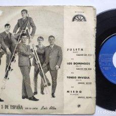 Discos de vinilo: LOS 5 DE ESPAÑA - EP SPAIN PS - EX * JULITA / LOS DOMINGOS / TENGO ENVIDIA / MIEDO. Lote 198021437
