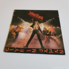 Disques de vinyle: JUDAS PRIEST – UNLEASHED IN THE EAST (LIVE IN JAPAN). CBS 83852. 1979. VER FOTOS.. Lote 198021523