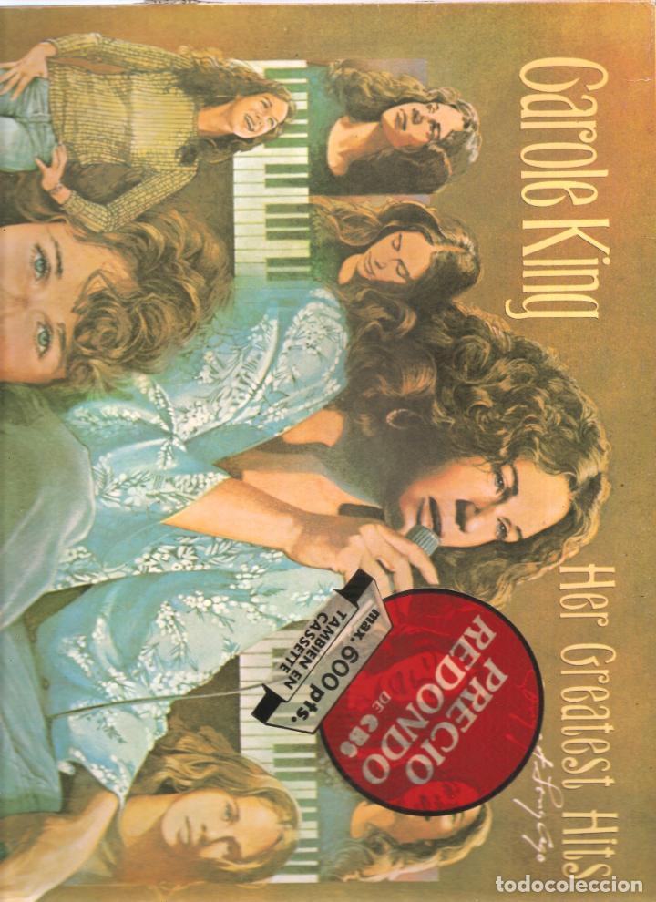 1478. CAROLE KING. HER GREATEST HITS (Música - Discos de Vinilo - EPs - Rock & Roll)